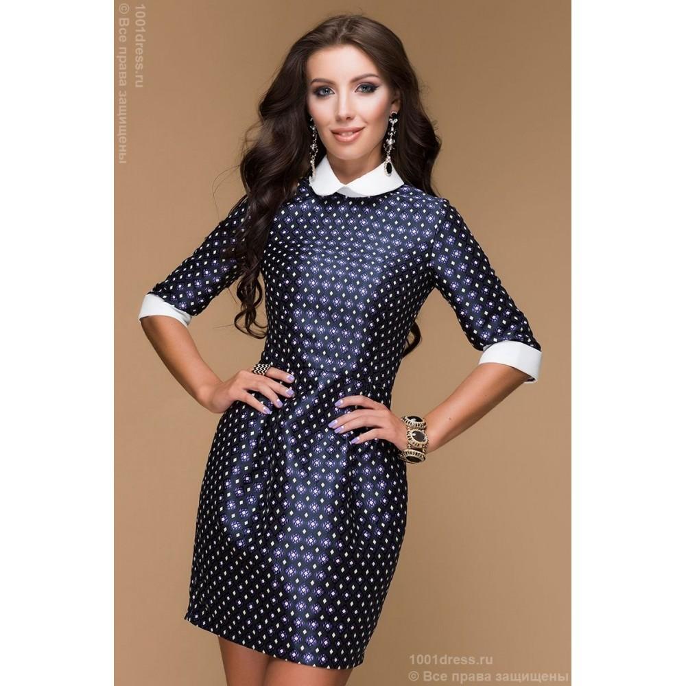 a9031113008 Фиолетовое платье в пол с белым принтом - Модадром